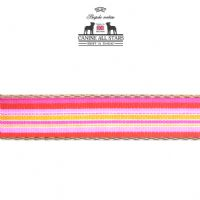DOG LEAD - TROPICAL SUMMER STRIPES PASSION FRUIT